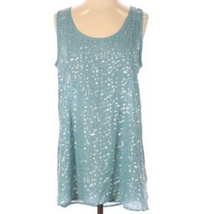 Soft Surroundings Sequin Shimmer Tank Top XS